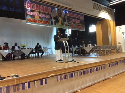 Buganda First Deputy Katikkiro Edward Ssendaula addresses Baganda in the UK.
