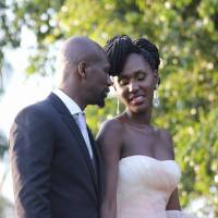 Jacob's Cross Famed Actor Bola (Fabian Lojede-real name) weds Seanice Kacungira (famed Ugandan presenter).