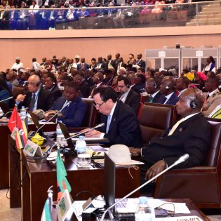 African leaders attending the opening ceremony of the 27th AU Summit in Kigali Rwanda yesterday July 17 2016 PPU Photo
