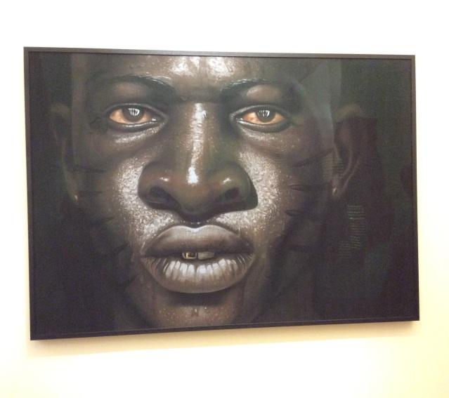 African man-paint