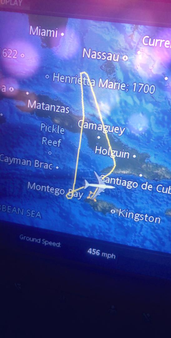 Plane's flight map